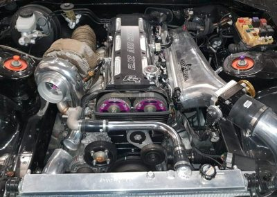 Black Toyota Supra engine Custom build by Next Level Automotive nextlevelautomotive.eu