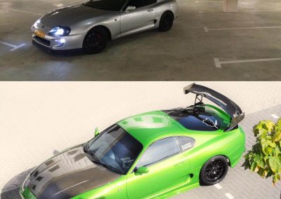 Green Toyota Supra Custom build by Next Level Automotive nextlevelautomotive.eu