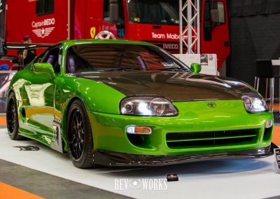 Green Toyota Supra at show Custom build by Next Level Automotive nextlevelautomotive.eu