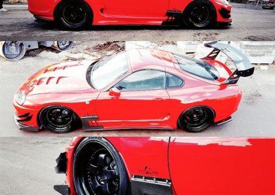 Red Toyota Supra Custom build by Next Level Automotive nextlevelautomotive.eu