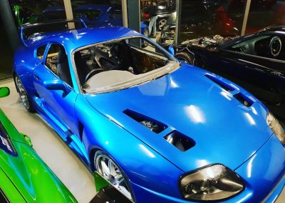 Toyota Supra wide body showroom Custom build by Next Level Automotive nextlevelautomotive.eu